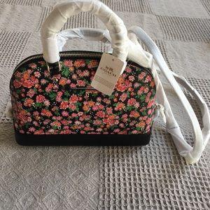 Coach Posey Floral MIni Sierra Satchel Canvas Bag